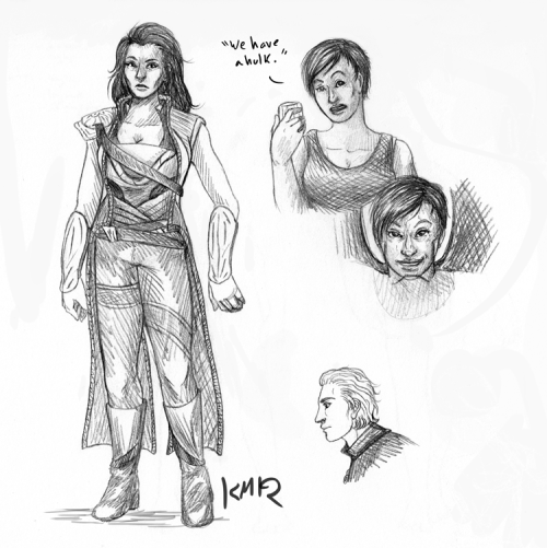 Just for the internets, more Avengers gender-bends.  And yes that's supposed to be a tiny male Black Widow, it compliments this other tiny Black Widow.