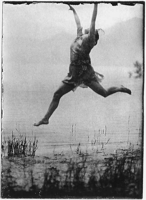 Mary Wigman by the foot of lake Maggiore during her time at Monte Verità, 1913