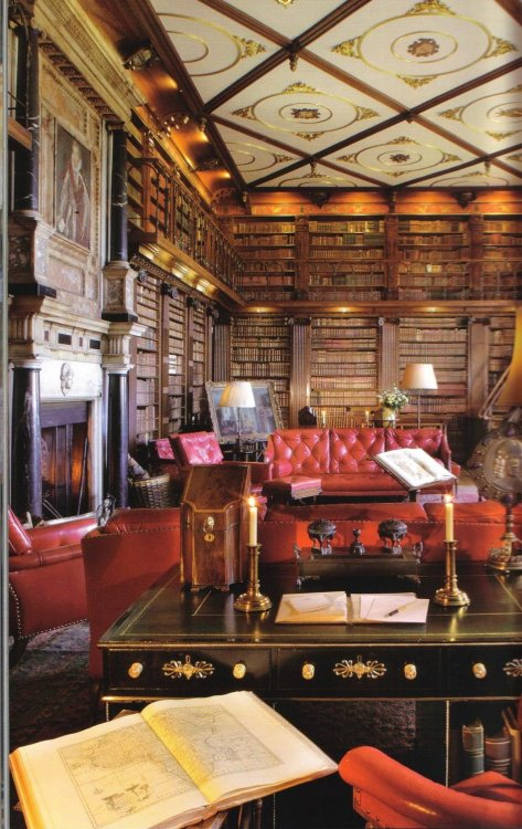 thesixthduke:  The library at Hatfield House.