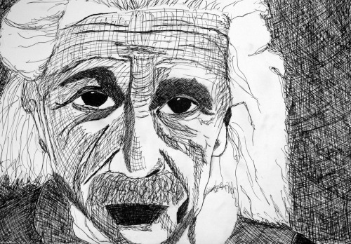 beautiful-anomaly:  I drew Einstein you guys.