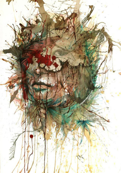 CARNE GRIFFITHS' ALCOHOL STAINED DRAWINGS