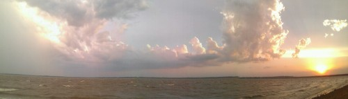 Beautiful cloud panorama