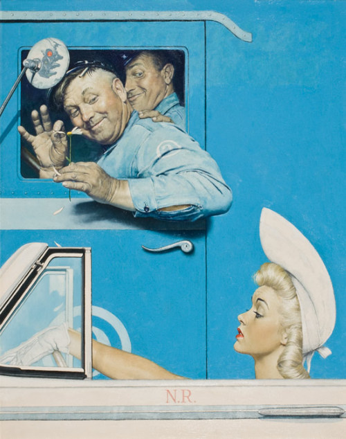 snowce:  Norman Rockwell (1894-1978), The Flirts, The Saturday Evening Post, July 26, 1941