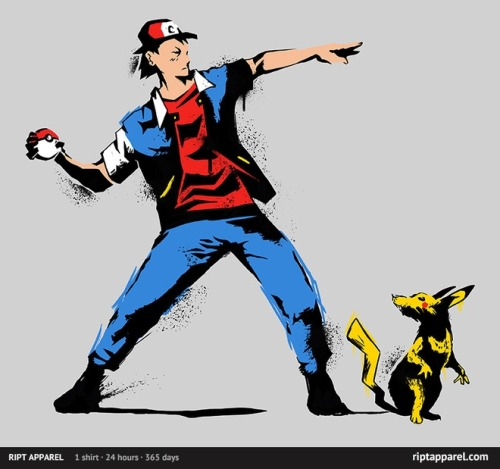 Banksy catches 'em all (RIPT shirt)
