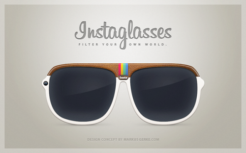 Concept Design For 'Instagram Sunglasses', See The World In Filters Hey Instagram fans—how would you like to view your world in Instagram filters? German designer Markus Gerke has unveiled an ingenious concept idea of integrating Instagram into a pair of sunglasses—allowing users to view their world in a desired filter. Called 'Instaglasses' or 'Insta' for short, it has Instagram filters built into the lens of the glasses that can be changed with a press of a button. It is also equipped with an in-built 5-megapixel camera with Wi-Fi capability—allowing users to take a picture and upload the image straight to the Instagram app. Though it maybe a concept design, Instagram fans would definitely be eager for this pair of sunglasses to start production. Raise your hands if you want a pair of Instaglasses!