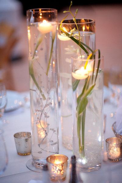 decoration mariage centre de table photophore