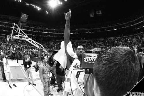 kobebeanbryant:  JANUARY 22: Kobe Bryant walks off the court after scoring 81 points against the Toronto Raptors on January 22, 2006. (Photo by Noah Graham/NBAE via Getty Images)