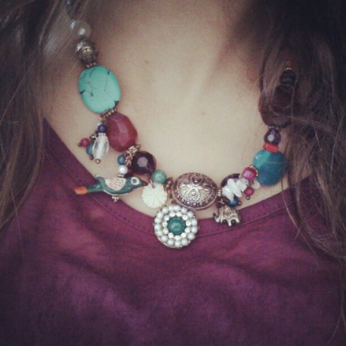Necklace #birds #elephant I Love it! (Tomada con Instagram)