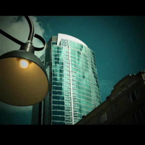 From the street lamp to the tower. #photography  (Taken with Instagram)