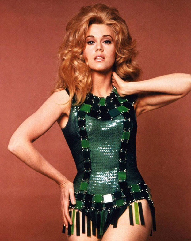 Jane Fonda became the 'Space Age' icon at the end of the 60s.