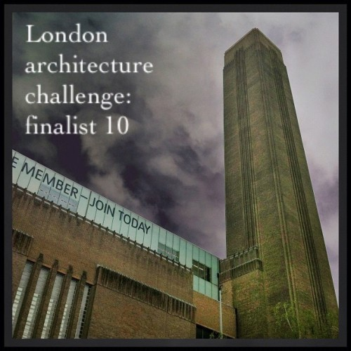 #iconiclondon2012june. Our 10th finalist is Matt Delmar with his great image of the Tate Modern…. Only 2 more days to go… So keep tagging your architectural photos! (Taken with Instagram)