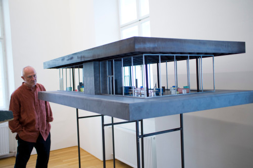 Architectural Models by Peter Zumthor Beginning June 23, 2012, a selection of these models by Peter Zumthor will be on show in the 200 square meter space on the first floor of the Post Office building directly adjacent to the Kunsthaus Bregenz. The curatorial conception and design of this showcase is in the hands of Thomas Durisch in close consultation with Peter Zumthor. Buildings and projects that were realized as well as those that remained in the design stage will be on show. The variety displayed in the exhibition demonstrate the outstanding role that working with models and materials as wood, metal, or clay play in Peter Zumthor's studio. KUB Collection Showcase Seestraße 5, 6900 Bregenz, Austria Admission Tickets at the KUB Reception Desk  A Selection of Pictures.