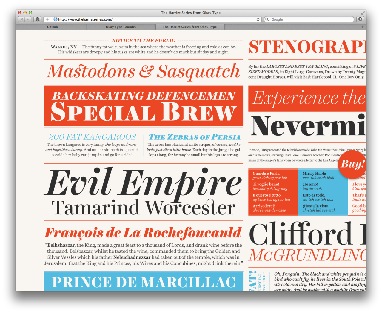 retinastuff:  http://www.theharrietseries.com/ More super sharp type. Via @kupfers  So much beautiful type happening here.