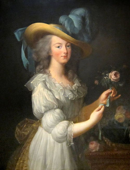 "a-l-ancien-regime:  Élisabeth Vigée-Lebrun (1755–1842)  Marie-Antoinette in a Muslin dress  (1783)  The portrait caused a scandal when it was exhibited at the Salon de Paris. The fact that the queen of France dressed as a maid provoked indignant reactions. Some argued she was conspiring with her brother to ruin the markets of Lyon silk manufacturers and  linen in Brussels. As a precaution, the portrait was taken away. ""(Evelyn Lever, Marie Antoinette - The Last Queen, Milan, 2007)"
