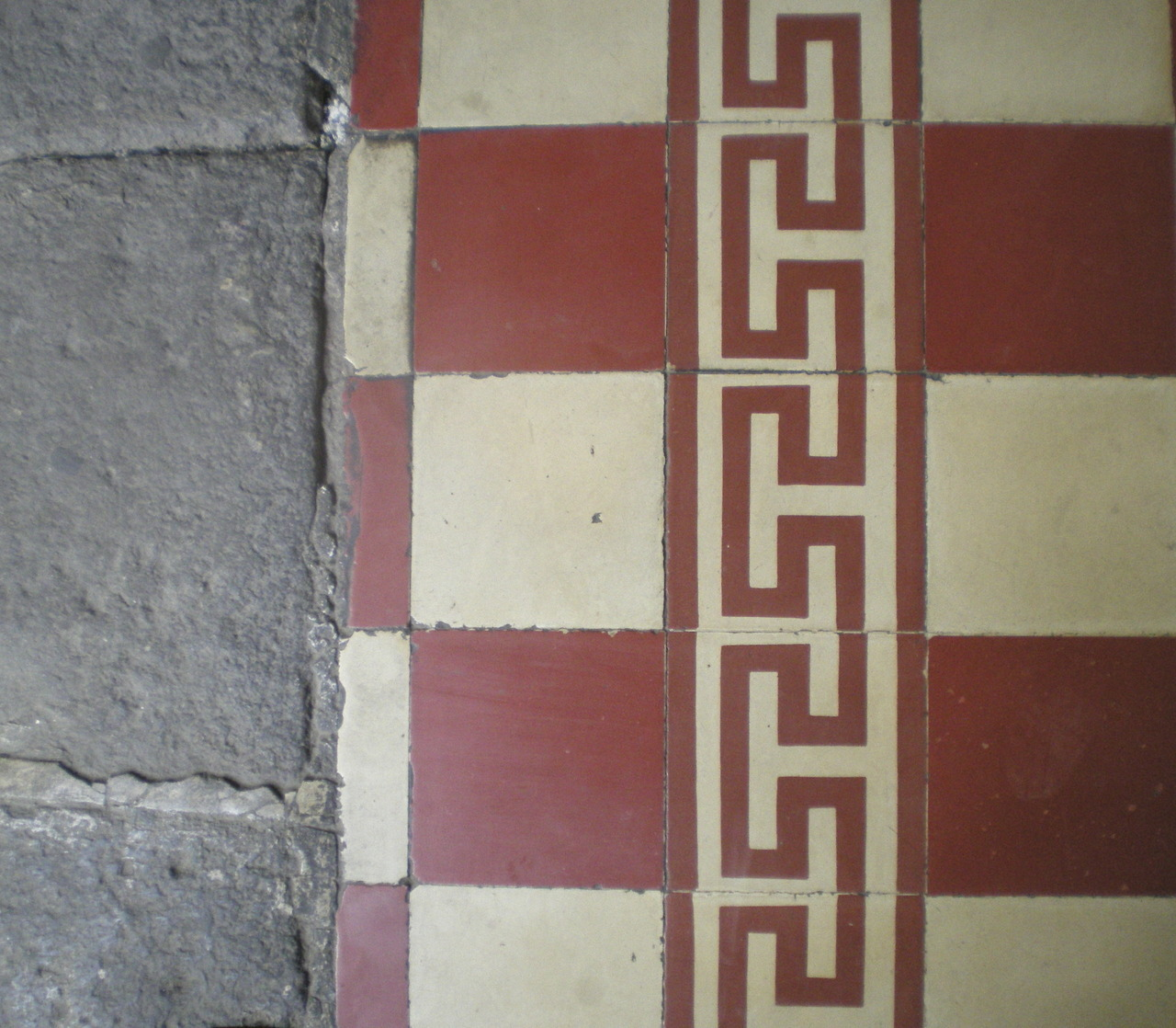 Old tiled floor
