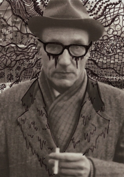 doodlingonfamouswriters:  WILLIAM S. BURROUGHS
