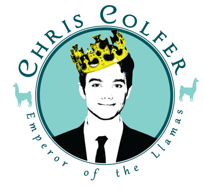 Shirt design request. Chris Colfer: Emperor of the Llamas.