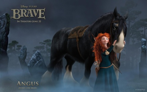 'Brave' engaging and assured, even if it falls short of Pixar's greats Brave Directed by Mark Andrews and Brenda Chapman, and co-directed by Steve Purcell Written by Mark Andrews, Steve Purcell, Brenda Chapman, and Irene Mecchi USA, 2012 At some point, the films from Pixar Animation Studios became so consistently powerful, so exceptional, that almost everyone in the world decided that making pieces of pure entertainment wasn't enough. Because it felt like Pixar was raising and clearing the bar for itself on each of its films, the pioneering animation company only creating movies that are enjoyable and exciting without being uniquely excellent could be disappointing to some of the audience that grew up with their work. But Brave, Pixar's 13th animated feature in 17 years, is consistently fun and engaging; that it's not a 90-minute shot of cinematic perfection to the brain doesn't turn the film into a black mark on the company's record. The major theme in Brave is the unique and strong bond parents have with their children, how quickly it can break, and how desperately important it is to mend that bond for everyone's good. Though there are many parents and children among the cast, we focus on Merida and Elinor, princess and queen of the Scottish Castle DunBroch, respectively. Elinor wants Merida to be a proper lady and get married to one of the neighboring clans' sons. Merida wants the freedom to do whatever she wants, including perfecting her archery skills and potentially never getting betrothed. As Elinor pushes her further, Merida, at her most desperate point, makes a fateful decision that…well, the less said about it, the better. CLICK HERE TO EXPAND THE ARTICLE