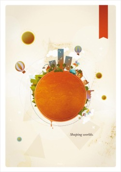 weandthecolor:  Shaping Worlds - Poster A limited edition graphic art print by Marie Brun, Julien Andrieux, and Mute agency. via: WE AND THE COLORFacebook // Twitter // Google+ // Pinterest