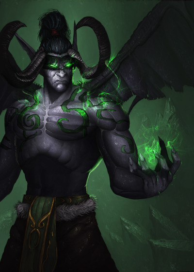 azeroth-adventures:  Illidan Stormrage by ~davebrush