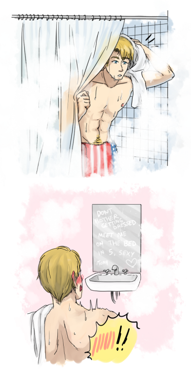rogers-and-stark:  Dont leave the door unlocked by =Kamachu