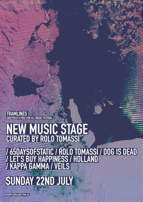 THIS SUNDAY!!!! rolotomassi:  Our stage at this years Tramlines Festival in Sheffield.Again, this is a TOTALLY FREE show. Our stage will be outside the city hall again. All you have to do is turn up on Sunday the 22nd of July. Click the image for more information on the festival.