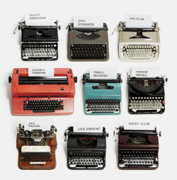 Famous writers and their typewriters