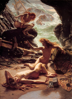 Edward Poynter, The Cave of the Storm Nymphs on Flickr.  Click image for 729 x 1000 size.