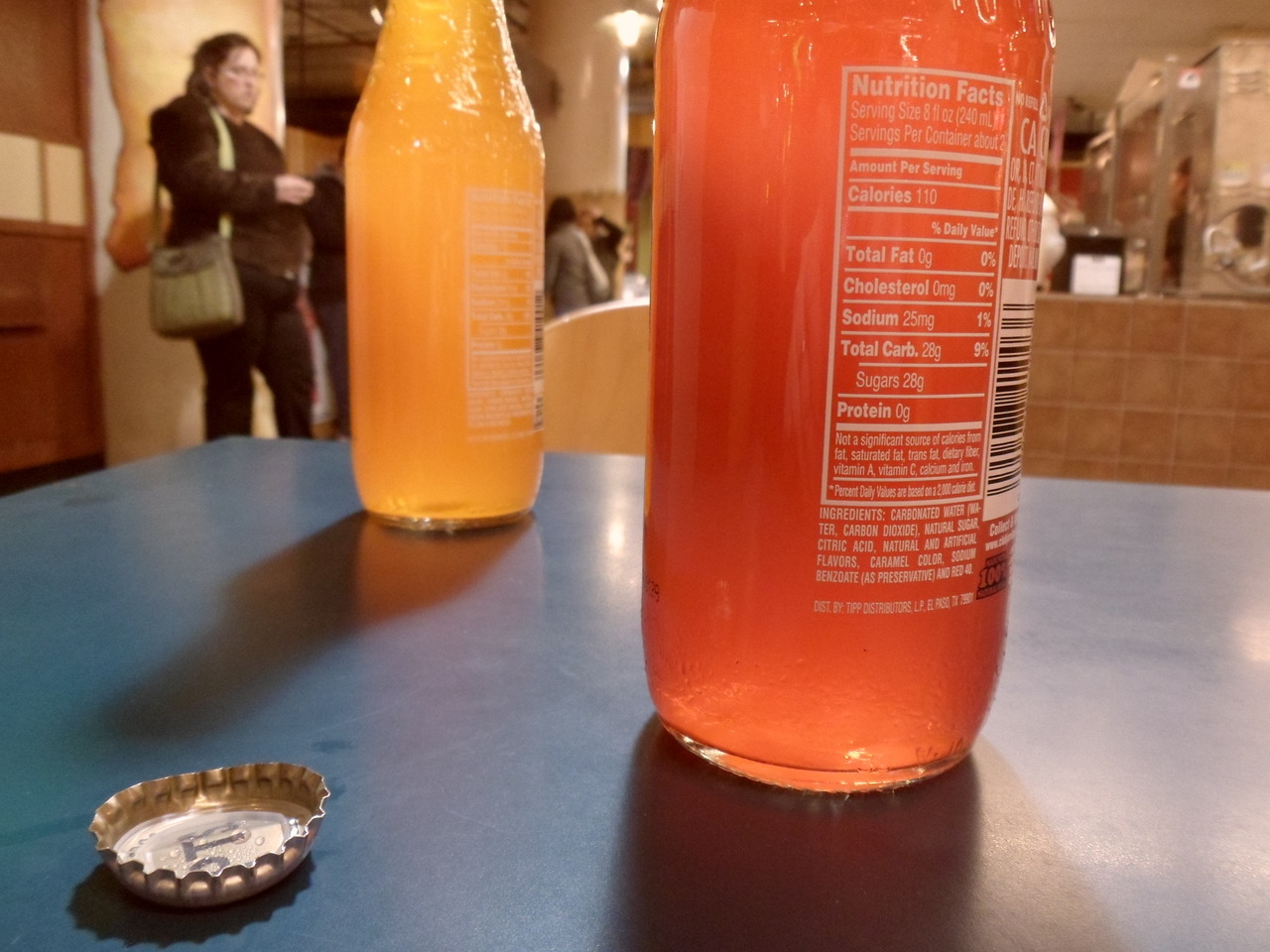 Sodas with lunch; Retro Cafe, Global Market, Minneapolis. (Please don't drink anything with ascorbic acid and sodium benzoate. Either one is okay, I guess, but both present a risk of cancer.)