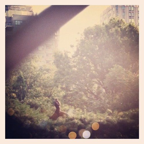 Good morning, Bobby. (Taken with Instagram at Washington Square Park)