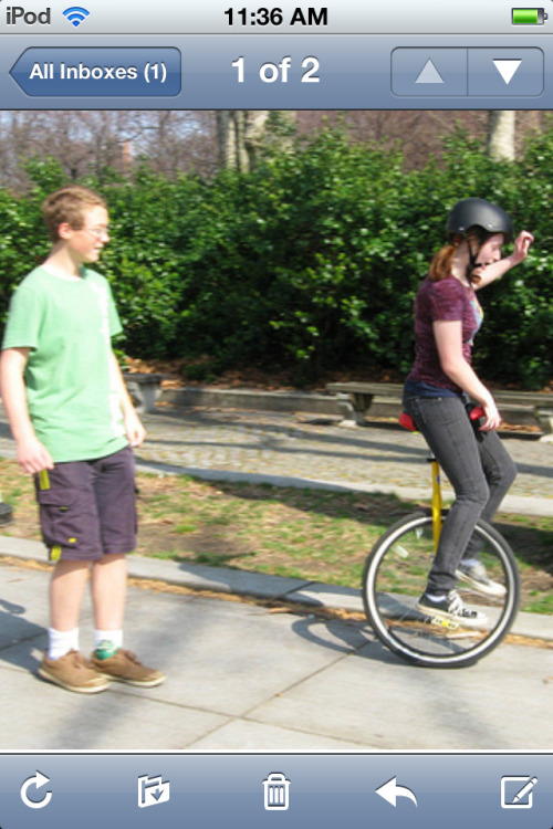 My best friend taught me how to unicycle #Winning