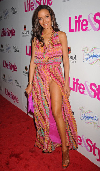 Glam Photo of the Day: Selita Ebanks in a gorgeous thigh high split maxi dress at the Life & Style magazine event A Summer of Style in NYC, love it?