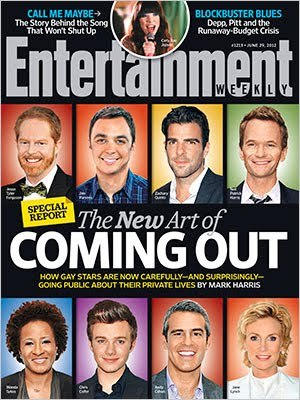 "Entertainment Weekly On Coming Out Via EW.com:   In this week's Entertainment Weekly special report cover story, writer Mark Harris examines the new, casual method gay celebrities are using to reveal their sexuality publicly for the first time. Fifteen years ago, when Ellen DeGeneres decided to come out of the closet, it was big news. Not just big: It was the cover of Time magazine, and a major story on Oprah, Primetime Live, and CNN. Last month, another star of a popular TV comedy went public with his homosexuality. But the news that The Big Bang Theory's Emmy-winner Jim Parsons is gay was reported with such matter-of-fact understatement that many people's first reaction was a quick Google search to see if maybe he was out already and we'd all just failed to notice. But sometimes big news arrives quietly. That new blink-and-you'll-miss-it style is an important hallmark of changing times. Fifteen years further into the evolution of gay equality than DeGeneres was, Parsons joins American Horror Story's Zachary Quinto, White Collar's Matt Bomer, and any number of other gay TV personalities, from Modern Family's Jesse Tyler Ferguson to Glee's Jane Lynch to CNN anchor Don Lemon to Bravo's Andy Cohen, who have pretty much put to rest any questions about the viability of being out in showbiz. Even if it's accomplished in a subordinate clause or a passing reference, coming out casually is, in its way, as activist as DeGeneres' Time cover, although few of these actors would probably choose to label themselves as such. The current vibe for discussing one's sexuality is almost defiantly mellow: This is part of who I am, I don't consider it a big deal or a crisis, and if you do, that's not my problem. It may sound like a shrug, but it shouldn't be mistaken for indifference. By daring anyone to overreact, the newest generation of gay public figures is making a clear statement that there is a ""new normal"" — and it consists of being plainspoken, clear, and truthful about who you are."