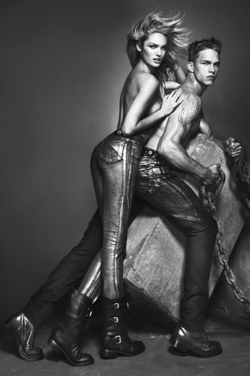 younglington:  Candice Swanepoel and Dmitriy Tanner for Versace Jeans FW 2012-13.