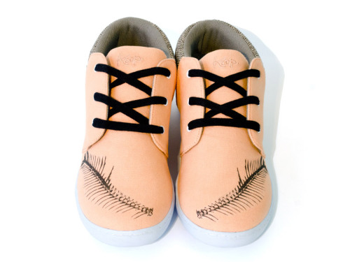 Designed by Justin Vernon, the Keep + Bon Iver shoe features herringbone accents, a black fishbone detail across the toe, and a canvas upper custom dyed to a perfect pale salmon.   - Hahahaha, Bon Iver designed a gross pair of shoes.