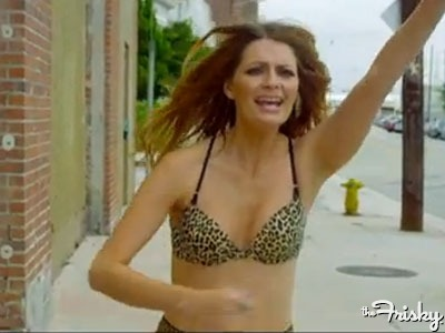 Mischa Barton Inexplicably Runs Around In Leopard Print Bra & Panties In Noel Gallagher's New Music Video - The Frisky