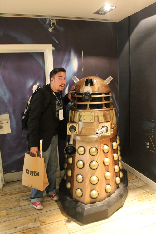 Upon his escapades in London, The Dorian ran into a Dalek. The Dalek was gracious enough to take a picture. Best to get a picture before they exterminate all us geeks.