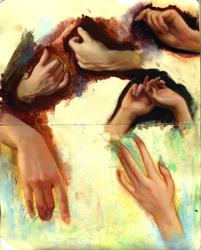 fer1972:  Hands Study by Rod Luff