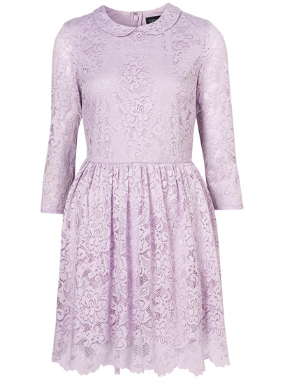 Sweeten up your summer look with a romantic lace frock, like this Peter Pan-collared mini-dress from Topshop. See more in our guide to 100 pretty lace dresses for summer » topshop.com