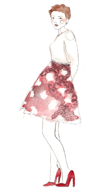 Love this illustration from Paperfashion. It's shows a great way to style some brightly colored heels for the summer. (via Paperfashion) <3 Sonal, ModStylist Need styling suggestions, trend tips, or dress details? Ask a ModStylist and your question might be featured on our feed!