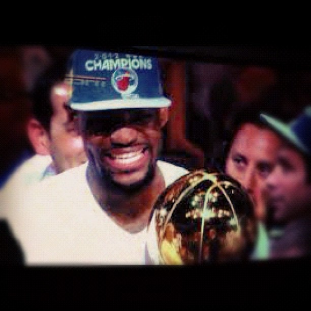 "@KingJames. Congrats to Lebron & The Miami Heat for winning the #2012 #NBA Finals. ""About Damn Time."" - Lebron James (Taken with Instagram)"