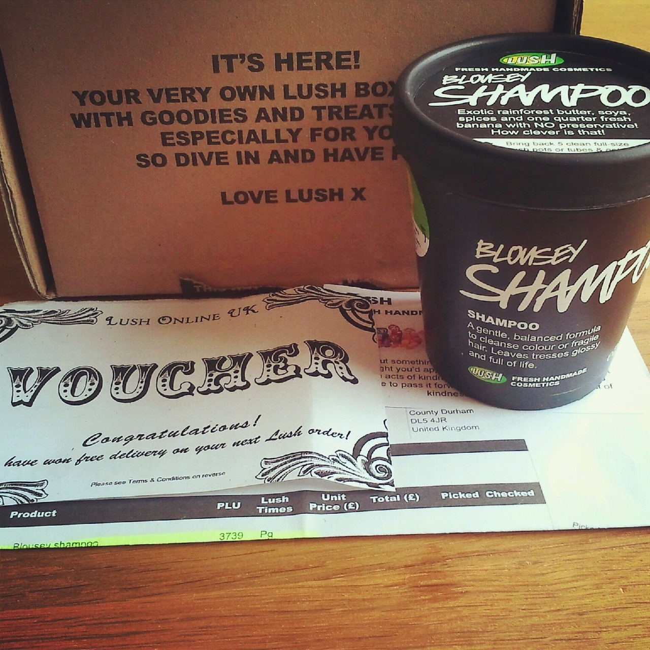 moonbeam-from-lightning:  shaunad:  My special hair care order came :) I won a free delivery voucher and got another free chunk of Ice blue soap. I'm so excited for the shampoo, it smells like a banana and blackcurrant smoothie.  So jealous!!  Oh my GOSH I am so ridiculously excited for this shampoo!!