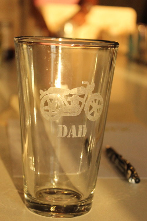 Etching pint glasses with a laser!