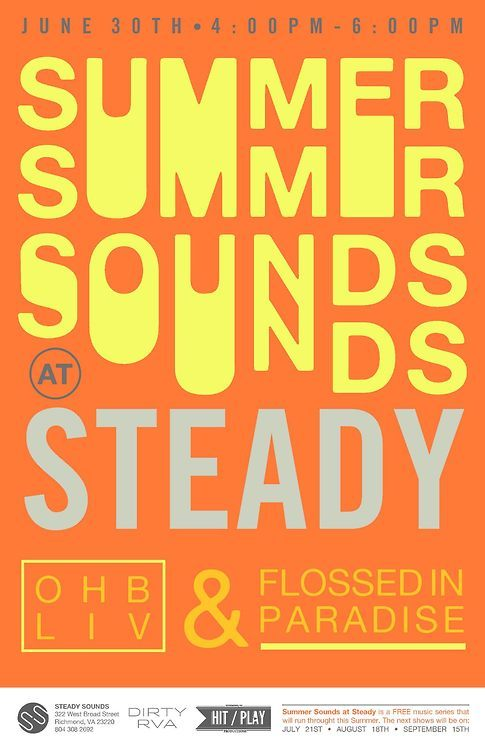 Produced Summer Sounds series with Dirty Richmond & Steady Sounds