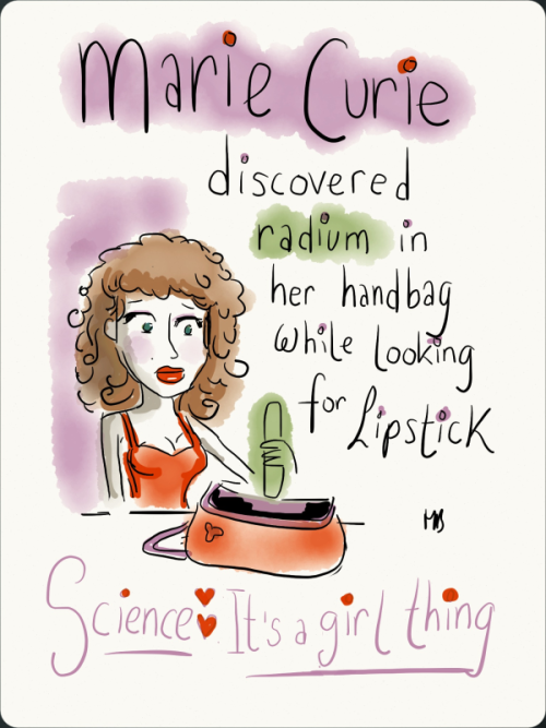 twistedlildoodles:  I drew this in response to 'Science: It's a girl thing!' which is this ridiculous video. http://www.youtube.com/watch?v=oZtMmt5rC6g I work in a lab, as a female scientist.  This be crazy!  Love this lol, can't wait to see the backlash from the female tumblr community