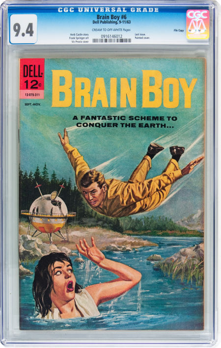 Brain Boy #6 File Copy (Dell, 1963)