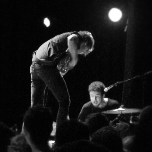 "06.21.2012 (JPNDRDS) Saw Japandroids at Lincoln Hall tonight - what an awesome show. Endless smiling from start to finish. Moshing. Really heartfelt performance.  I get so excited when you can tell someone is on stage putting every bit of energy and heart into their work. Loved when Brian King got on the mic to introduce the next, and my favorite song off of Celebration Rock, Younger Us and said ""You have to work hard for your money and so do we"" and kicked off this insanely energetic performance of the song. Watching the people around me not give a shit and dance their faces off, and the band just go for it reminded me of summers from 8-9 years ago. Favorite quote of the night to sum the show up was ""No shame, don't give a fuck-Rob Zombie reference…""  I think this show resonated with me because the band is at this juncture where they're no longer kicking and screaming, trying to avoid adulthood-but instead, accepting the grown-up card. They maintain the best parts of loving recklessly, living hopefully, and telling anyone else to go to hell, with a new thoughtfulness and maturity (if you can maturely tell someone to go to hell.) Highlights: Younger Us— and all the passion put behind that performance Young Hearts Spark Fire — because it was the song that made me fall for Japandroids & held sentimental value for me The House That Heaven Built — just for it's gravity and dynamism, like thinking about the idea of the ""soul of a city"" and it felt especially real and alive last night Continuous Thunder— I loved/hated that the band felt they needed to justify the performance of this song. It's a slow song, and, in a way, jarring against the back drop of the high-energy set list. They gave this disclaimer of grandeur before playing it, saying if anyone didn't like the slowness of this song, it'd be a great time to get a drink, and that if they didn't play it tonight then they probably wouldn't ever play it live- and that was half-diasspointing/ half-endearing because they're still so humble. Continuous Thunder is top three for me off Celebration Rock for it's lyrics alone.   If I had all of the answers And you had the body you wanted Would we love with a legendary fire?   Literally gives me chills."