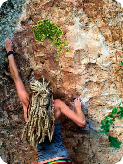 justclimbit:  Look at that hair <3  The colors!