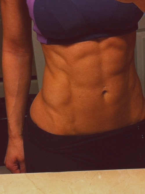 sexygymbabes:  Intense #selfshot of some killer #abs