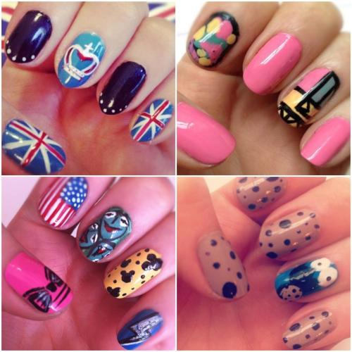 karlapowellmua:  My nail art! Using MUA Cosmetics nail varnishes! Hope you are inspired… Karla X